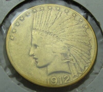 1912-S Gold Eagle, $10 Gold Indian, Very Nice Free Shipping!    210