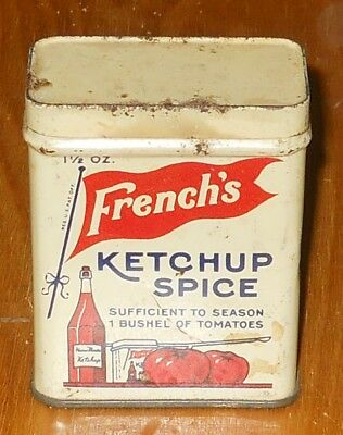 Vintage French's Ketchup Spice tin 1 1/2 oz