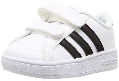 adidas Baseline CMF White Black Sneaker Toddler Boy Girl New 100% Authentic