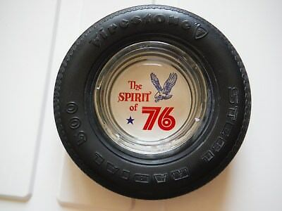 Firestone Advertising Tire Ashtray Spirit Of 76 Steel Radial 500