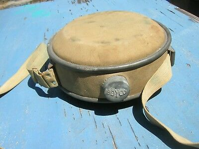 """Vintage """"BOYCO"""" Metal W/ Canvas, Water Canteen Galvanized Can RARE Antique Old"""