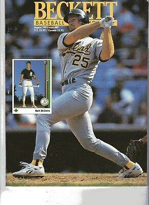 Beckett Baseball Card Monthly Price Guide Magazine / August 1992 Issue #89
