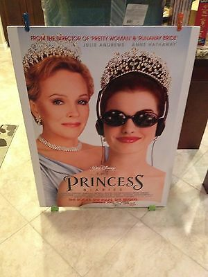 Disney's PRINCESS DIARIES Movie Poster 27x40 One Sheet / 2-Sided Anne Hathaway