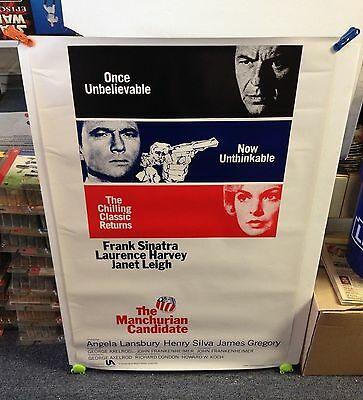 Vintage 1988 THE MANCHURIAN CANDIDATE Movie Poster 27x41 1-Sheet 1-Sided