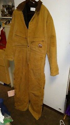 THERMAL-TUFF Steiner~BROWN~Canvas~OVERALLS~Quilted Lining~XL~10159; FAST S&H