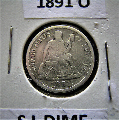 1891-O Seated Liberty Dime Fine Details cleaned