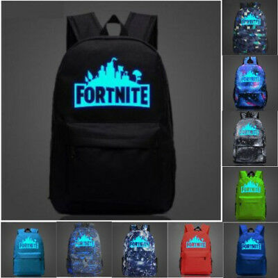 Luminous Bag Fashion Trend Fortnite Game Night Youth Campus Backpack For Unisex