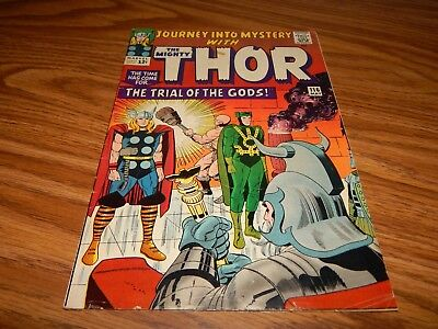 """Silver Age Comic EARLY Thor # 116 """"The Trail Of The Gods"""" FN Condition"""