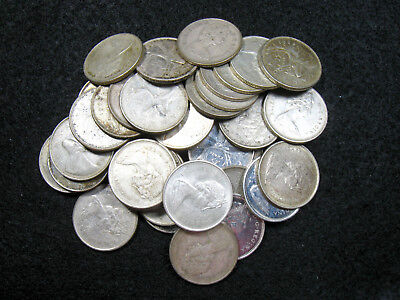 1 Roll (40) 1968 Canada 50% Silver 25 Cents Quarters
