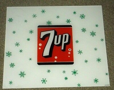 Vintage Original 7 Up  Acrylic  Sign Minty New Old Stock-In Wax Paper!!!