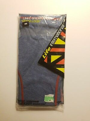 Vintage NIP Men's Jockey Life International Linke Brief Denim Look Size 38