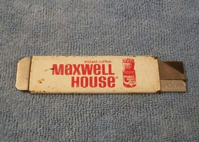 Vintage Maxwell House Instant Coffee Box Cutter / Razor Knife Advertising