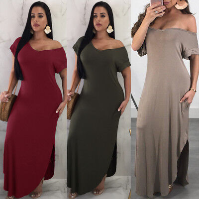 WOMEN\'S STRAPLESS MAXI Dress Plus Size Tube Top Long Skirt Sundress ...
