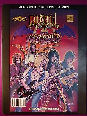 AEROSMITH/ ROLLING STONES ROCK 'N' ROLL Comic Book Magazine Size