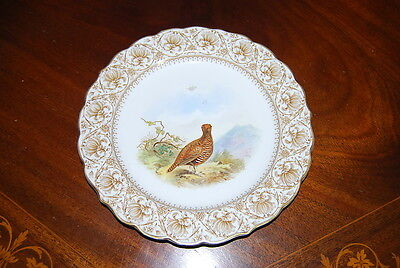 Beautiful Old Royal Worcester Hand Painted Foul Bird Cabinet Display Wall Plate