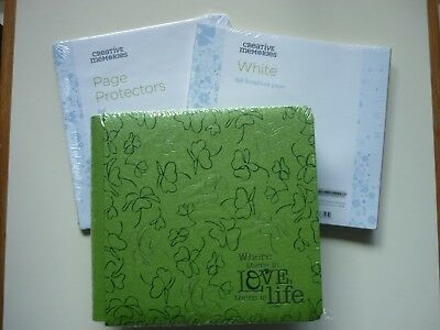 "Creative Memories 8"" 'LOVE LIFE' ALBUM Coverset + Pages + Protectors - NLA"