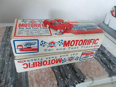 neat old gas station dx race car track set up in original box