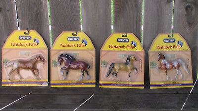 Breyer Paddock Pals New lot of 4, Pinto ASB, Morgan, Clydesdale, Appaloosa