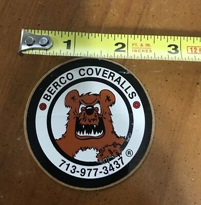 Vintage/New: BERCO COVERALLS - Oilfield Hardhat Sticker