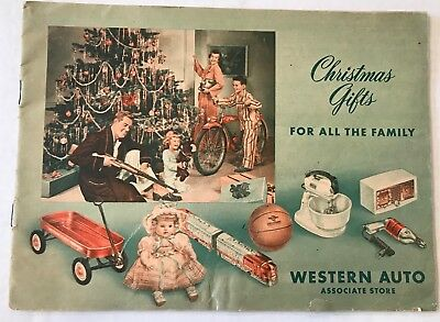 Western Auto CHRISTMAS GIFTS 1950s Toy Catalogue Dolls trains bicycles playsets