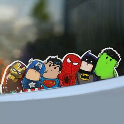 Auto Car-styling Marvel The Avengers Sticker Decal Slant Funny Decor Accessory
