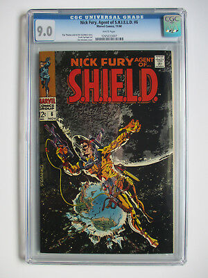 Nick Fury, Agent of Shield CGC 9.0  Steranko cover!!!  White Pages!!!