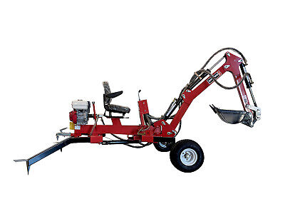 Hoc Te301H Honda Towable Excavator Backhoe Trencher + 1 Year Warranty