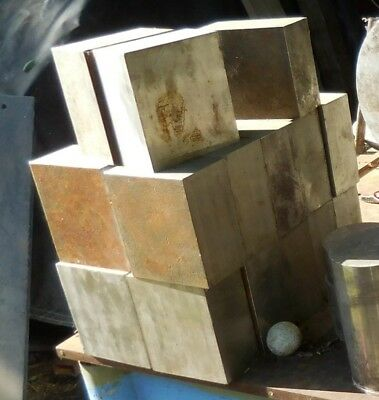 """316 Stainless Steel Square Block/Plate  About 5"""" x 4"""" x 2.25"""""""