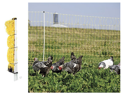 """Poultry Electric Chicken Net Fence Goat Sheep Pig Outdoor Fencing Large Cage 48"""""""