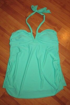Liz Lange Maternity Swimsuit Tankini Top, green (Jade), Large 12,-$