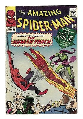 AMAZING SPIDER-MAN #17 SILVER AGE MARVEL COMIC BOOK 2nd Green Goblin Human Torch