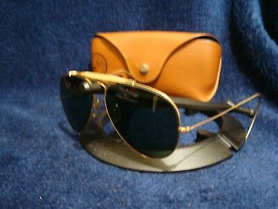 5f0e6636ae Vtg Ray Ban B   L Aviator Shooter 1 10 12k Gold Filled Sunglasses with