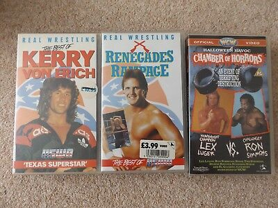 WCW & USWA VHS Video Tapes Cassettes Job Lot Bundle Chamber of Horrors Wrestling