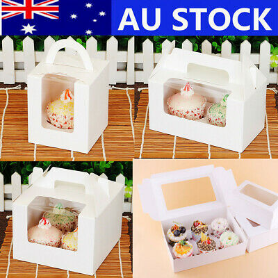Cupcake Box Cases 1 hole 2 hole 4 hole 6 hole 12 hole Window Face Gift