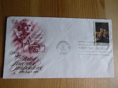 Ersttagsbrief 200th Year Birth of American Independence 1976