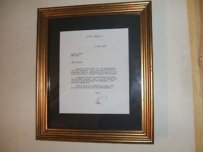 Ron Hubbard Letter Signed Founder Of Scientology