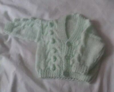 newborn Knitted Boys  Cardigan In Mint green  .. Brand New