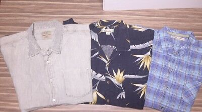 3 Yes 3 Tommy Bahama XXL S/S Summer Button Ups, Bid W/ Confidence!