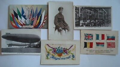 WWI ~  6X OLD POSTCARDS ~  POST CARDS ~ 5 English - 1 French