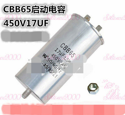Compressor Start Capacitors Motor Capacitor With Bolt And Nut CBB65 450VAC