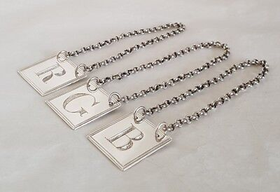 George lll sterling silver labels.London 1802 . By Peter, Ann & William Bateman