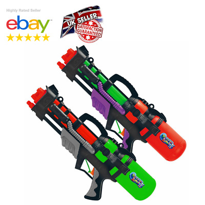 2x Water Gun Pump Action Pistol Outdoor Shoot Blaster Squirt Soaker Kids Toy UK