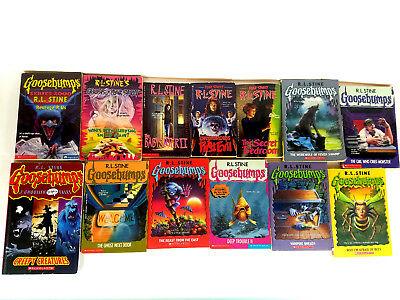 RL Stine and Goosebumps 13 Book Lot Creepy Creatures Fear Street