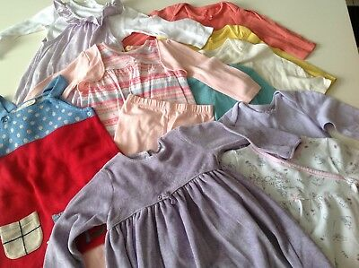 Baby girls 9-12 months clothes bundle 12 items excellent condition next, Marks &