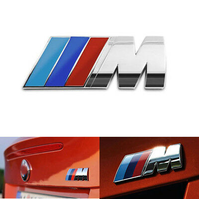 BMW M Power Badge Motorsport Metal Logo Car Emblem Chrome Decal fits M3 M4 M5 M6