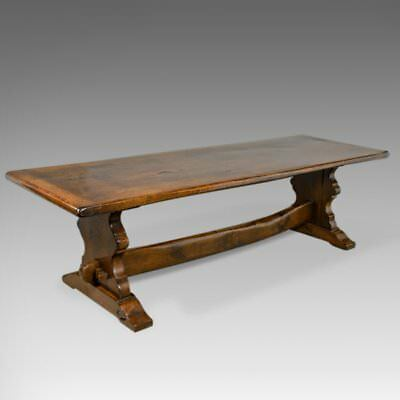 Large Antique Refectory Table, 17th Century Taste, English Oak, Edwardian c.1910