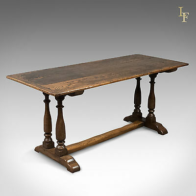 Antique Refectory Table, 17th Century and Later, English, Oak