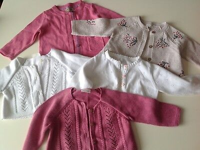 Baby girls clothes cardi bundle 6-9 months from next in great condition 5 items