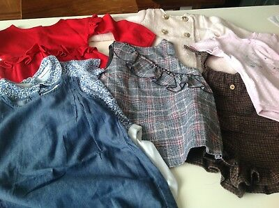 Baby girls bundle NEXT & ZARA  9-12 months 7 items excellent condition