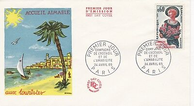 France 1965 Fdc Campaign L' Entrance Hall And L' Kindness Yt 1449